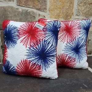 NWT Ashland 4th Fourth of July Heritage Pillow Set